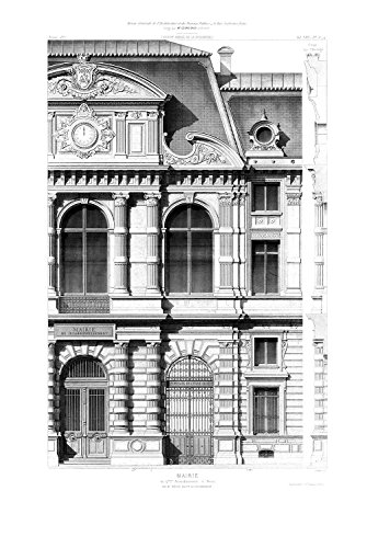 Wandbild 270 x 180 cm Fototapete Architekturzeichnung klassische Fassade