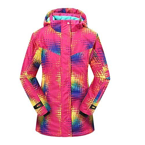 Zhou-YuXiang Grado Ruso Invierno niños Traje de esquí más Terciopelo cálido Impermeable Chaqueta Abrigo niño Monos años niña Traje de Nieve