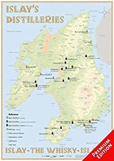 Whisky Distilleries Islay - Poster 42x60cm - Premium Edition: The Whiskylandscape in Overview - Maßstab 1 : 82.000