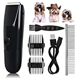 Dog Clippers Washable,2020 New Upgrade Dog Grooming Kit Waterproof Professional Pet Grooming Kit Electric Dog Trimmers Clippers Cordless,USB Rechargeable Low Noise Pet Shaver for Dogs, Cats, Rabbits