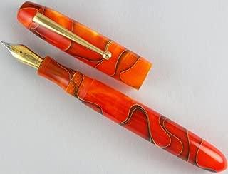 Edison Collier Persimmon Swirl Steel Nib Fine Point Fountain Pen - COLLIER-PS-F