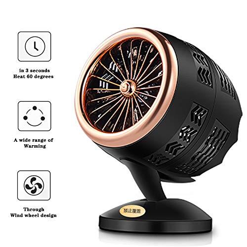 ZYFA ventilatorkachel, 3 seconden, snelle verwarming, geluidsarme werking, elektrische verwarming, mini-kachel, oververhittingsbeveiliging, 350 watt, voor kantoor, thuis, woonkamer