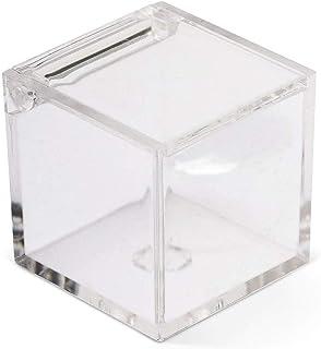 IRPot–2x Cajas para peladillas en plexiglás transparente en forma de cubo
