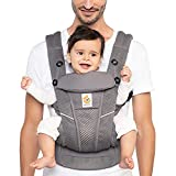 Ergobaby Omni Breeze All Carry Positions Breathable Mesh Baby Carrier with Enhanced Lumbar Support &...