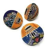Agas Own Kalimba - Instrumento musical para piano (coco, 7 lenguas, 7 llaves, lamellofón, afinable, para dedos, piano, portátil, instrumento de percusión para niños y adultos