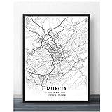 linshel Murcia Oviedo Vigo Zaragoza Spanien Karte Reise