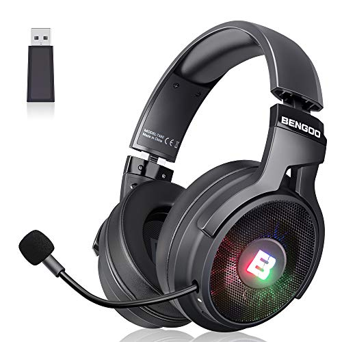 BENGOO 2.4G Wireless Gaming Headset Headphones...