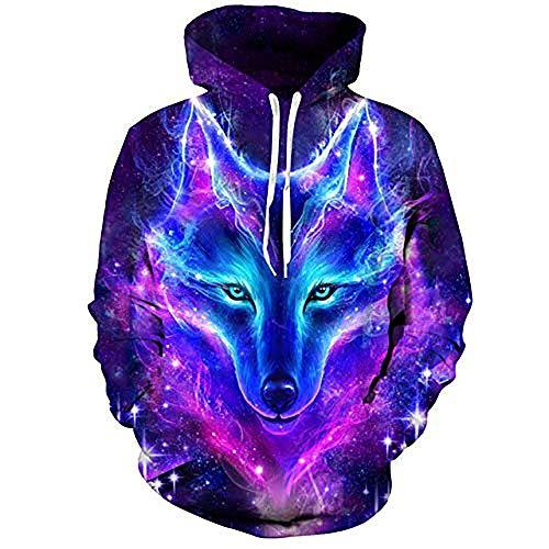 3DWY Space Galaxy Wolf Hoodie Hoodies Männer Frauen 2018 Frühjahr Herbst Sweat Sweat Homme 3D Trainingsanzug, M