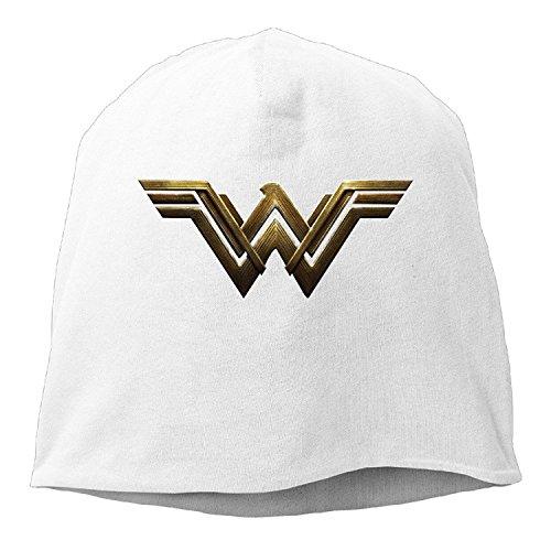 GTSTCHD Justice League New WW Wonder Women Logo Beanie Cap Hat White