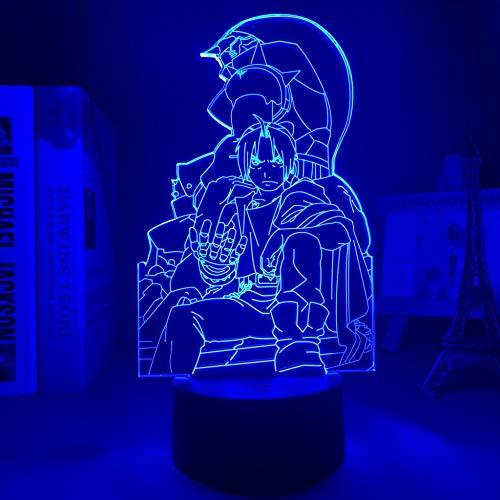 Luz nocturna LED 3D con diseño de anime para decoración de habitaciones, regalo de cumpleaños para niñas y niños