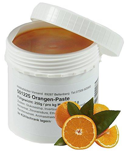 Hobbybäcker Orangen-Fruchtpaste ► Zum Verfeinern von Eis, Pralinen, Desserts & Tortencremes, Orangig-Frisch, 250g