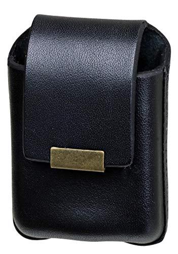 日本製 本革 ライターケース ベルト通し付き ジッポー収納可能 選べる三色 (ブラック)