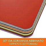 Set Scrivania Abbinato - Tappeto Salvapavimento e Sottomano - Proteggi Tavolo, Parquet, 10...