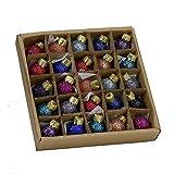 Kurt S. Adler 0.78-Inch Glitter Glass Ball, 25 Piece Set Ornaments, Multi
