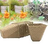 CviAn-New 100Pcs / Set 8 * 8 * 8cm Macetas de turba Semillero y Kit de macetas de Inicio de Semillas de Hierbas Arrancadores de Plantas Siembra de Papel Reciclado Biodegradable y ecológico