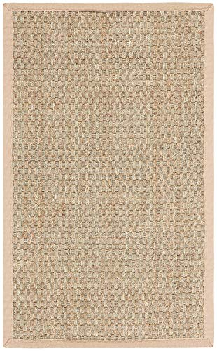 Safavieh Natural Fiber Collection NF114A Basketweave Natural and Beige Summer Seagrass Area Rug (2