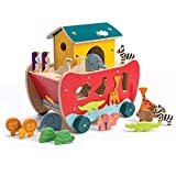 Tender Leaf Toys - Wooden Noah's Ark Animal Shape Sorter Toy - Encourages Imaginative Play, Improves Recognition and Problem Solving Skills - 3 Years +