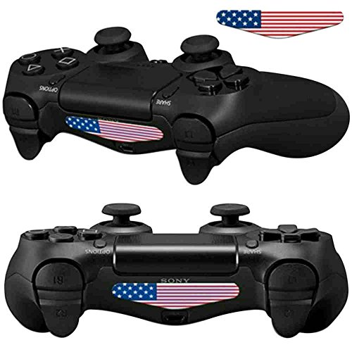 Mod Freakz Pair of LED Light Bar Skins US Flag American for PS4 Controllers