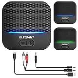 ELEGIANT Bluetooth Empfänger 5.0 Adapter Audio Receiver 3D-Soundeffekt mit Low Latency 20 Stunden...