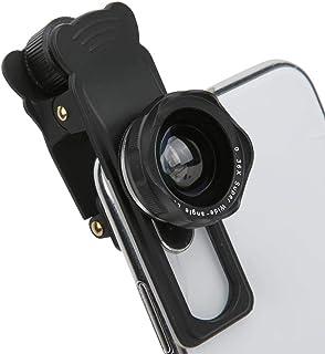 Mugast Lens Kit, 5 in 1 Aluminium Alloy Telephoto Lens Kit 12X Telephoto Lens, 180° Fisheye Lens, 4k Wide Angle Lens and 1...