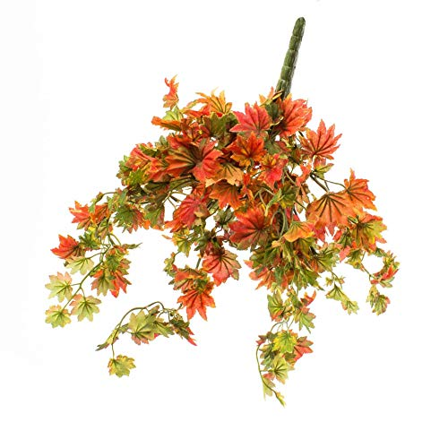 artplants.de Künstlicher Ahornbusch ILJA in rot - grün, 35cm - Künstlicher Busch - Herbstdeko