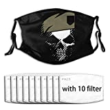 Gh-ost Rec-on Wild-Lands Ogr Windproof Dustproof Scarf Face Masks Outdoor Adult Dust Washable Reusable for Men's Women Outdoor Sport -One Size