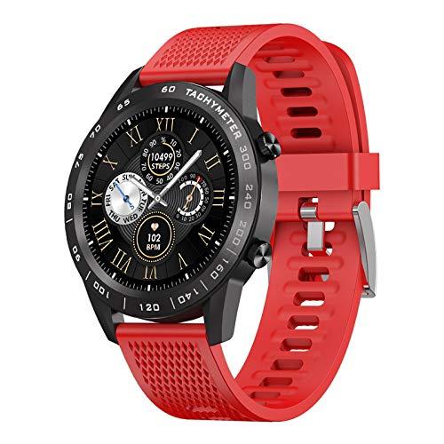 AYZE Reloj Deportivo Hombre GPS Batería De 260 mAh, Monitorización De Datos De Frecuencia CardíAca/Sueño/Ejercicio, Control De MúSica/Fotos, Llamada Bluetooth, Watches for Men Red