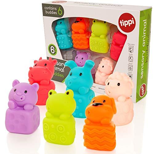 Tippi - Spielzeug für Babys - Weichtiere und Sinnestiere - Spielzeug für Kinder von 1 oder 2 Jahren - Geeignet ab 6 Monaten