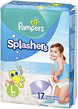 17-Count Pampers Splashers Swim Diapers Size L