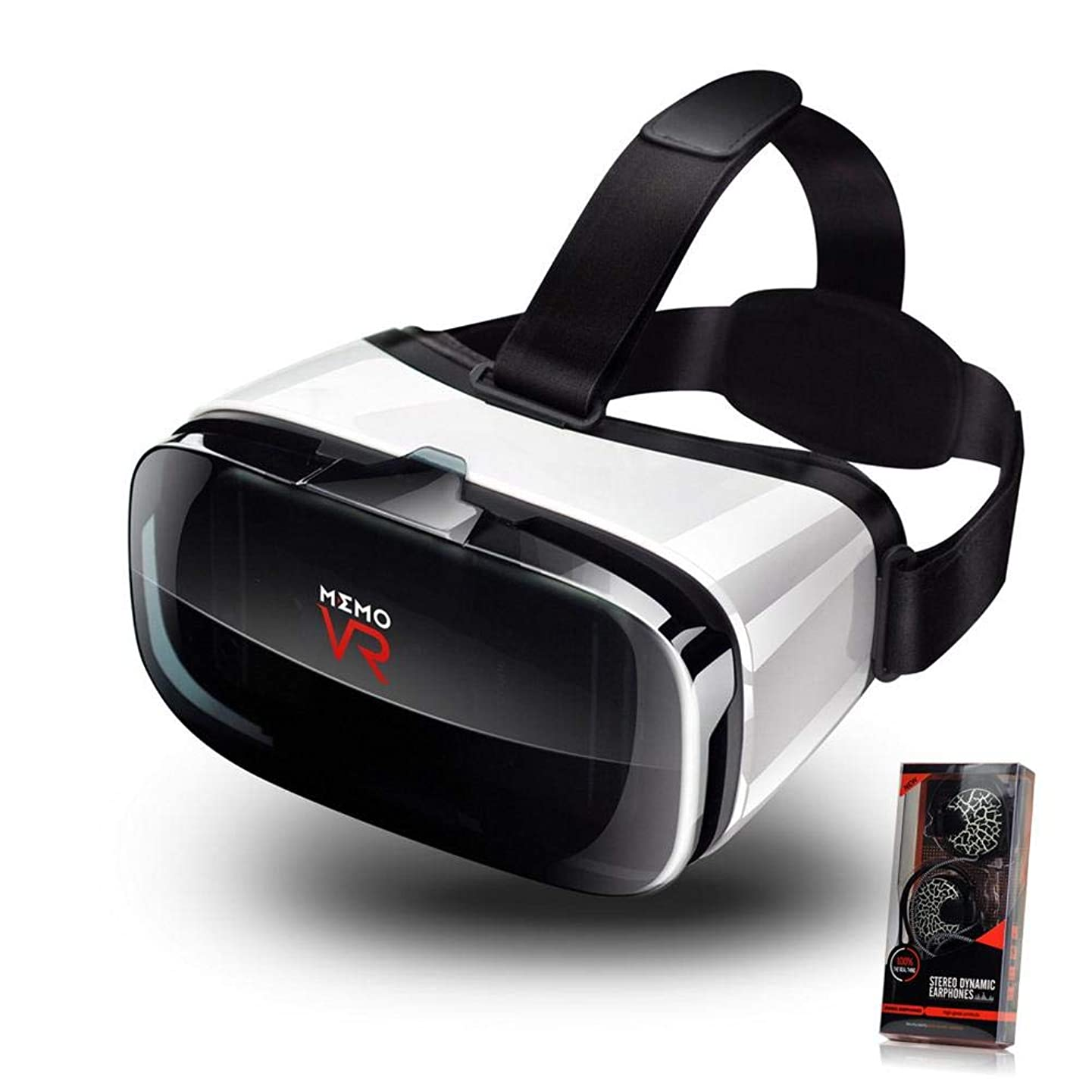 V6 VR Goggles 3D Virtual Glasses, VR Headset with Controller Remote, Eye-Safe Adjustable HD Quality Lenses,Eye Protected HD Virtual Reality Headset W/Touch Button, Smartphones W/ 4.5-6.3in Screen.