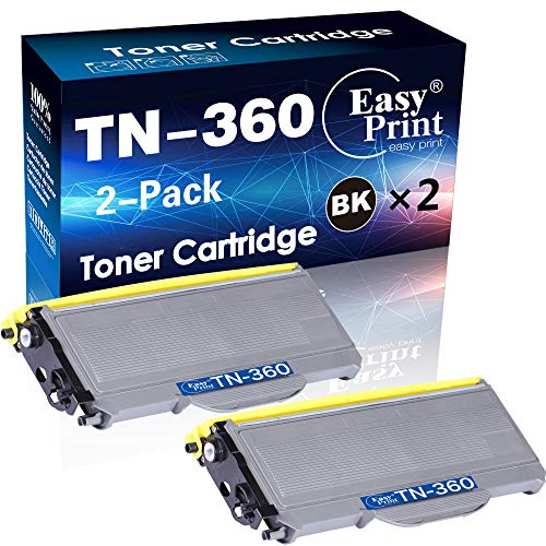 (2-Pack) Compatible TN-360 Toner Cartridge TN360 Used for Brother MFC-7440N 7840W HL-2140 HL-2150N HL-2170W Printer, by EasyPrint