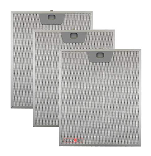KIT 3 pcs Filter Aluminium für Abzugshauben FABER mm.253 x 300 x 8