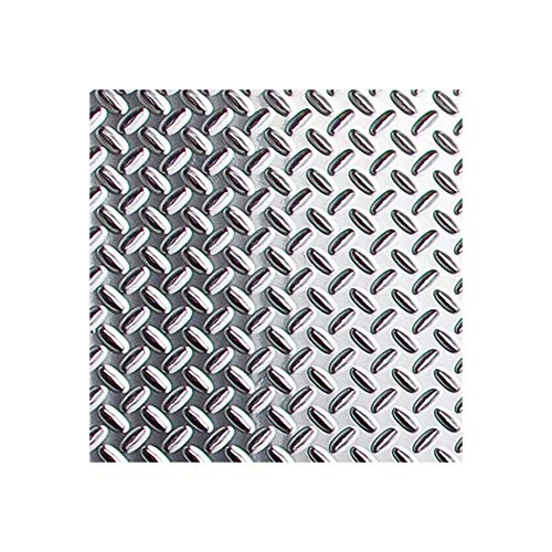 FASÄDE - Diamond Plate Brushed Aluminum Decorative Wall Panel - Fast and Easy Installation (12' X 12' Sample)