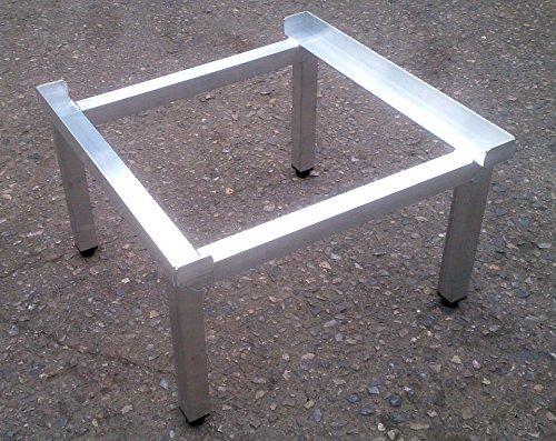 Waschmaschinen Untergestell Mara 1 High Extra Hoch 50 cm verstärkte Aluminium - Ausführung rostfrei höhenverstellbare Füße Unterbau für Trockner oder Waschmaschine