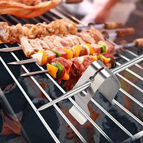 TAIPPAN Clip per termometro da griglia Clip per griglia a 3 Fori Supporti per termometro per Barbecue per letture della Temperatura Ambiente, 4 Pezzi