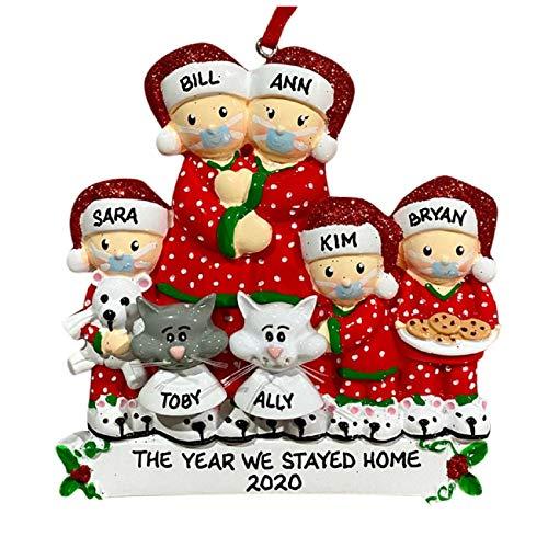 1PC Souvenir Family of Ornament 2020 Christmas Tree Holiday Decorations Family Reunion Gift Decor