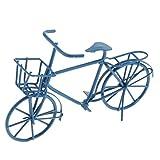 Sharplace 1:12 Miniatur Puppenhaus Möbel - Metall Fahrrad Bike Modell - 8,2 x 4,5cm - Blau
