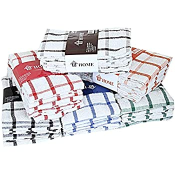 Paños de cocina de rizo 100% algodón, muy absorbentes, de B. Home, 100% algodón algodón 100% algodón de rizo., 10 unidades: Amazon.es: Hogar