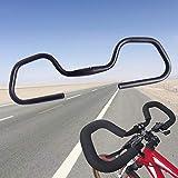 KLOP256 Fahrrad-Lenker mit Schmetterlings-Motiv, rutschfeste Aluminiumlegierung, 25,4 mm/31,8 mm, für Rennrad, Mountainbike