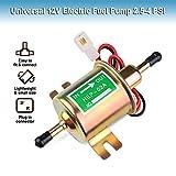 Electric Fuel Pump 12v Universal - Low Pressure 12 Volt Inline Fuel Pump for Lawn Mower Carburetor Gas Gasoline Diesel Engine