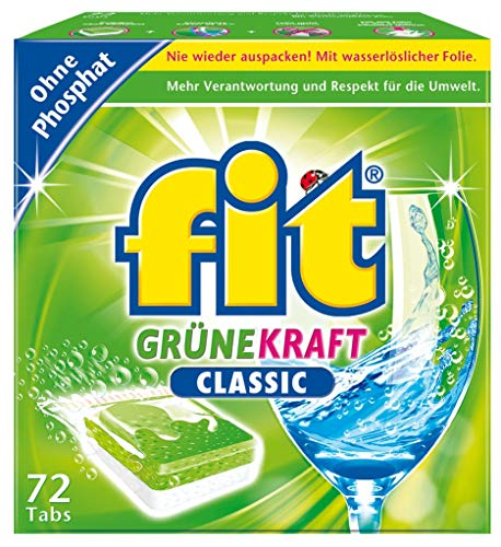 fit Grüne Kraft Classic 72 Tabs Spülmaschinentabs