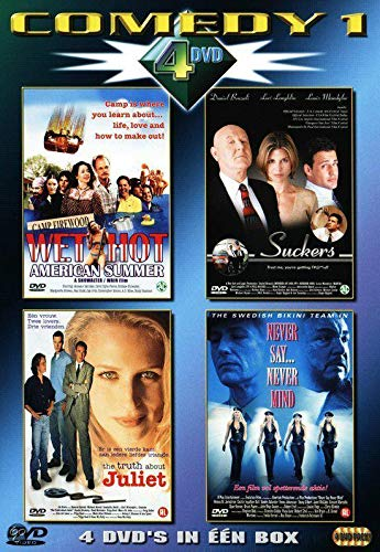 Four Comedy Films ( Wet Hot American Summer / Suckers / The Truth About Juliet / Never Say Never Mind: The Swedish Bikini Team ) [ NON-USA FORMAT, PAL, Reg.0 Import - Netherlands ]