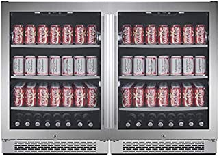 Avallon ABR241SGDUAL 140 Can + 140 Can Built-in Side-by-Side Beverage Cooler