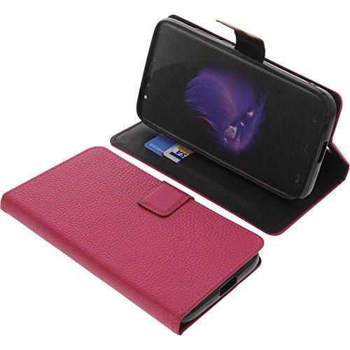 foto-kontor Tasche für HomTom HT50 Book Style pink Schutz Hülle Buch