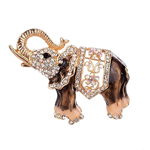 luosun luosun 2019 New Korean Version Decorated with Diamond and Fashion Alloy Elephant Brooch