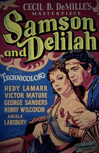 Samson and Delilah, Hedy Lamarr, Victor Mature, George Sanders, 1949 - Foto-Reimpresión película Posters 24x37 pulgadas - sin marco
