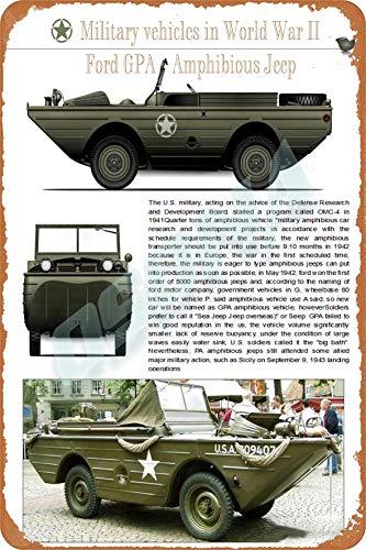 OSONA Gpa amfibisk retro nostalgisk traditionell rostfärg burk logga reklam slående väggdekoration gåva