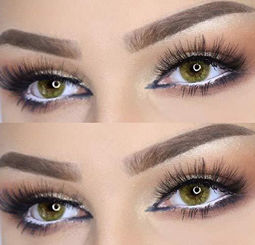 Farbige Kontaktlinsen DUBAI NIGHTS die schönsten Farblinsen für orientalische, braune Augen ohne Stärke (Honig)