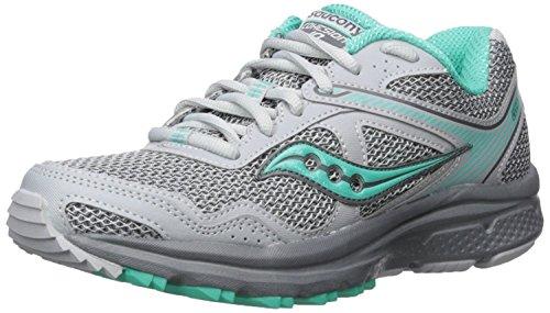 Saucony Women's Cohesion 10 Running Shoe, Grey/Mint, 8.5 M US
