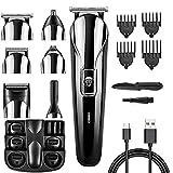 Freestyle Maquinilla de afeitar profesional 11 en 1 para hombres Afeitadora de afeitar eléctrica...
